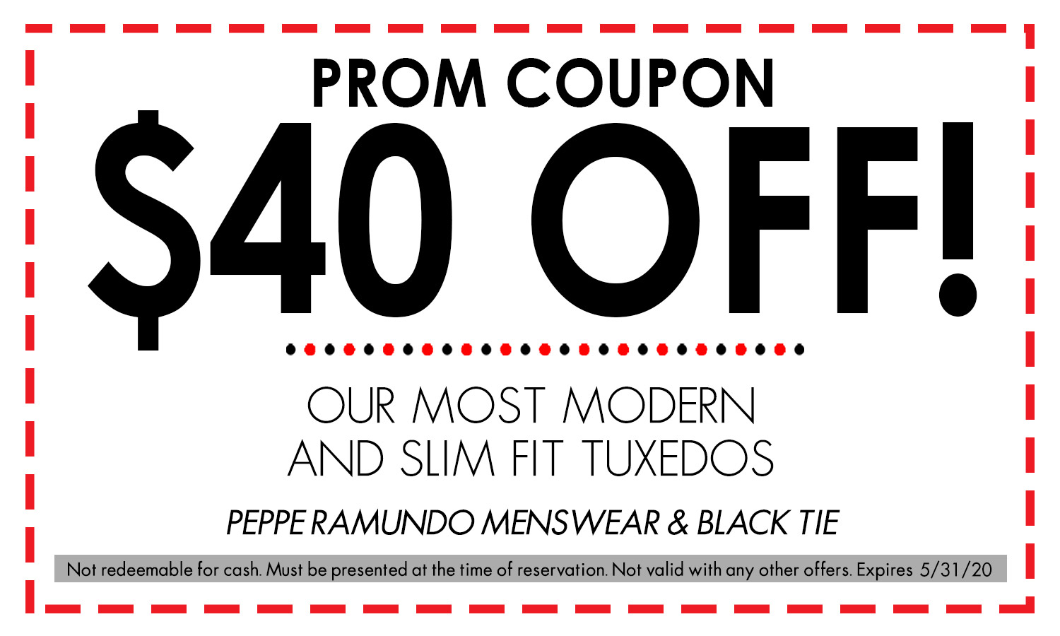Prom Coupon
